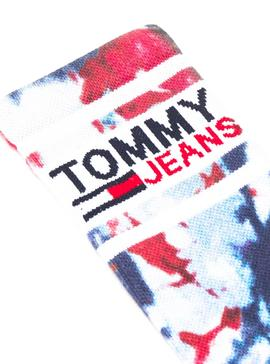 Calcetines Tommy Jeans Tie Dye Azul Marino