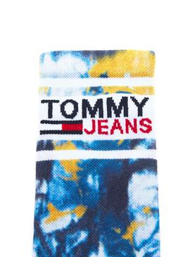 Calcetines Tommy Jeans Tie Dye Azul