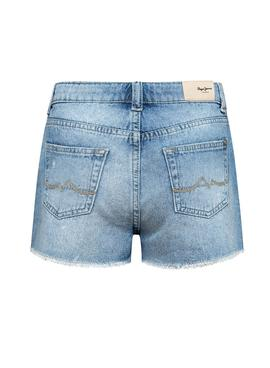 Short Pepe Jeans Patty Azul para Niña