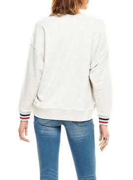 Sudadera Only Daisy Sateen Beige Mujer