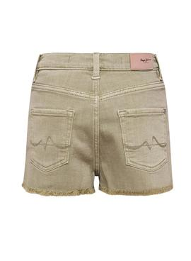 Short Pepe Jeans Patty Verde para Niña
