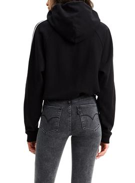 Sudadera Levis Cinched Negra Mujer