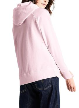 Sudadera Levis Graphic Sport Rosa Mujer