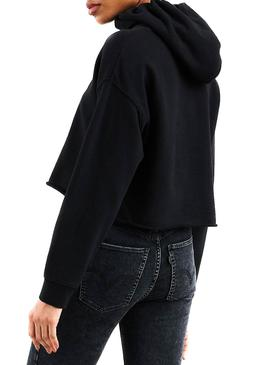Sudadera Levis Graphic Raw Cut Sequin Negro Mujer