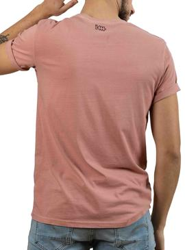 Camiseta Klout Dyed Rosa Para Hombre