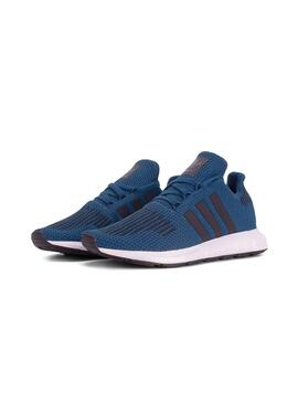 Zapatillas Adidas Swift Run J Azul Niño