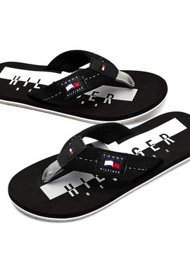 Chanclas Tommy Hilfiger Badge Beach Negro Hombre
