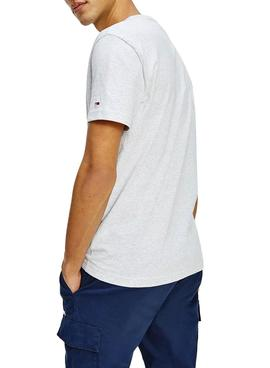 Camiseta Tommy Jeans Timeless Gris Para Hombre