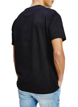 Camiseta Tommy Jeans Timeless Flag Negro Hombre