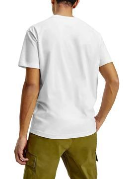 Camiseta Tommy Jeans Timeless Flag Blanco Hombre
