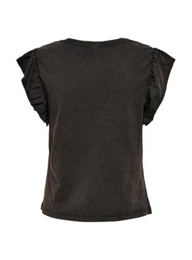 Camiseta Only Lucilla Life Negro Para Mujer