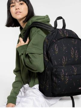 Mochila EastPak Out Of Office Negro Floral Unisex