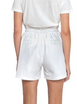 Short Pepe Jeans Nell Blanco Para Mujer