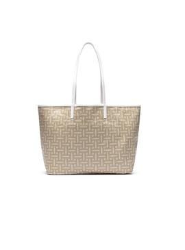 Bolso Lacoste Shopping M Monografico Beige Mujer
