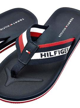 Chanclas Tommy Hilfiger Sporty Marino Para Hombre