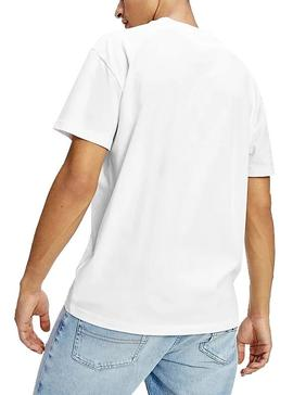 Camiseta Tommy Jeans Faded Blanco Para Hombre