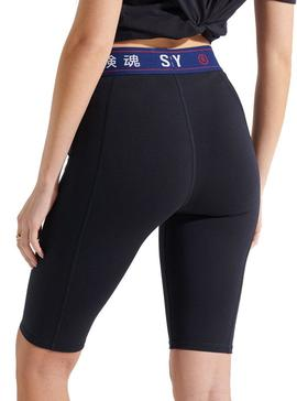 Mallas Ciclistas Superdry Sportstyle Negro Mujer