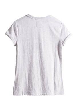 Camiseta Superdry Embroidery Blanco Para Mujer