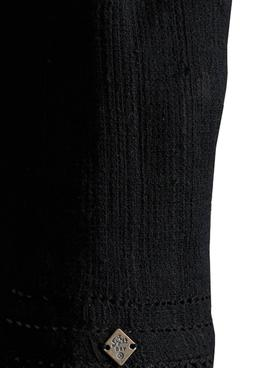 Top Superdry Textured Negro Para Mujer