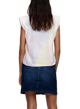 Camiseta Only Amy Padded Blanco Para Mujer