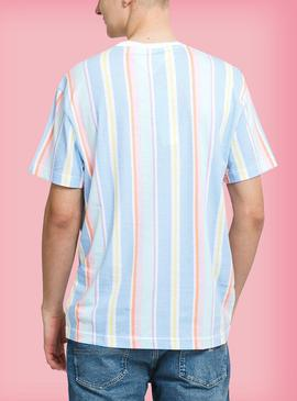 Camiseta Tommy Jeans Pastel Azul Rayas Hombre