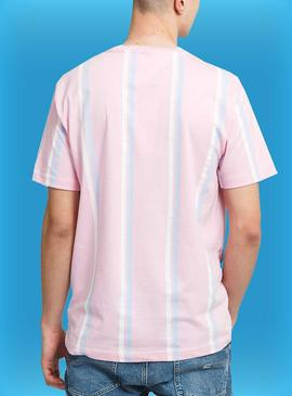 Camiseta Tommy Jeans Pastel Rayas Para Hombre
