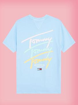 Camiseta tommy Jeans Pastel Logo Repeat Hombre