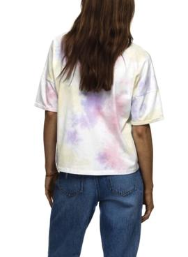Camiseta Only Zoey Life Blanco Tie Dye Para Mujer