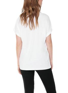 Camiseta Only Moster Blanca Para Mujer