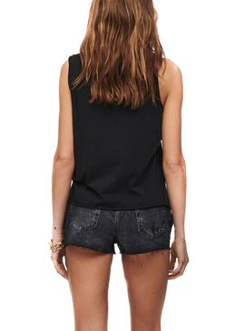 Camiseta Only Lucy Life Tank Negro Para Mujer