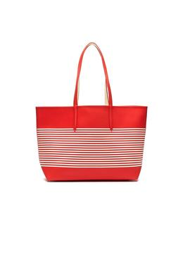 Bolso Lacoste Shopping Reversible Rojo