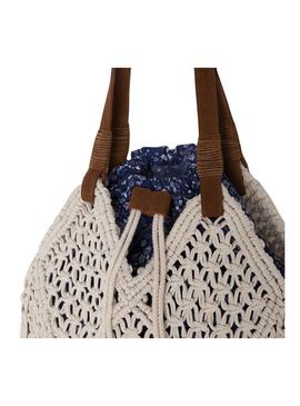 Bolso Pepe Jeans Virginia Beige Mujer
