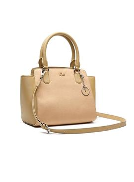 Bolso Lacoste Tote Beige Para Mujer