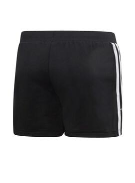 Shorts Adidas 3 Stripes Negro Niña