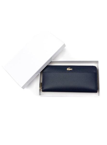 nueva estilos d551d 4a401 Billetera Lacoste Chantaco Azul Mujer