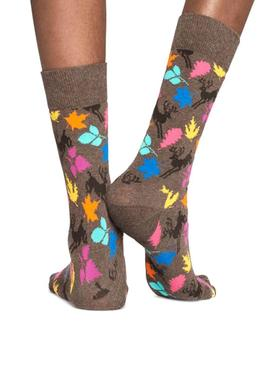 Calcetines Happy Socks Deer Marron Mujer