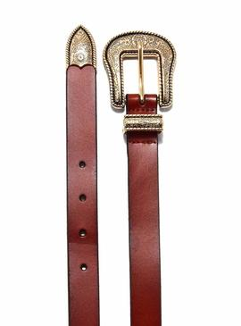 Cinturon Only Annlise Leather Camel para Mujer