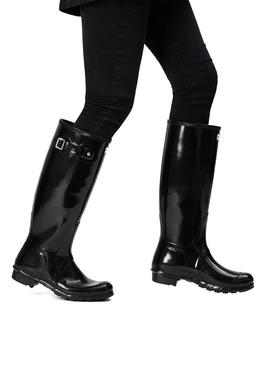Botas Hunter Original Tall Gloss Negro