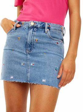 Falda Tommy Jeans Vaquera GR Mujer