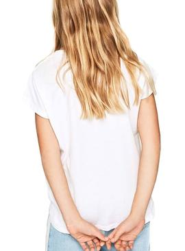 Camiseta Pepe Jeans 45TH 02G Blanco Niña