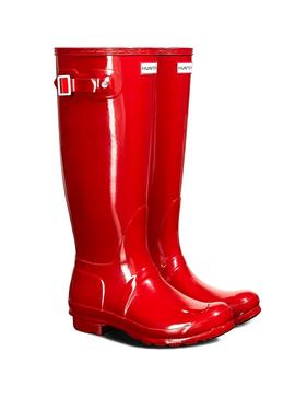 Botas Hunter Original Tall Gloss Rojo