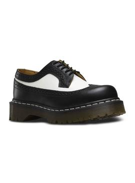 Zapato Dr.Martens Brogue 3989 Smooth Negro-Blanco