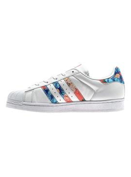 Zapatillas Adidas Superstar Floral
