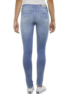 Pantalon Vaquero Tommy Jeans Nora Zip Light