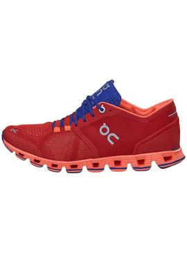 Zapatillas On Running Cloud X Red Flash Para Mujer