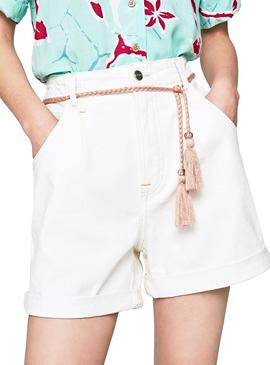 Short PepeJeans Daisie Blanco Mujer