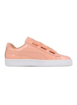 Zapatillas Puma Basket Heart Peach