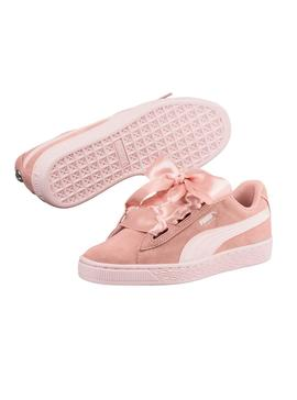 Zapatillas Puma Suede Heart Jewel JR Peach