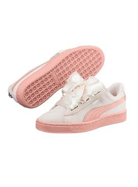 Zapatillas Puma Suede Heart Jewel JR Blanco