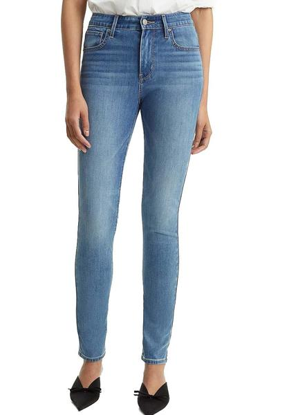 High Azul Mujer Pantalon Levis Skinny 712 Rise DH2YE9WI